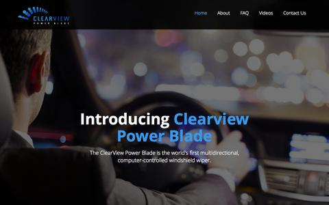 Screenshot of Home Page clearviewpowerblade.com - Clearview Power Blade | The world's first multidirectional, computer-controlled windshield wiper - captured July 21, 2015