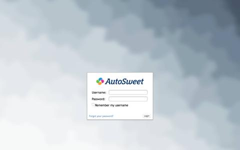 Screenshot of Login Page autosweet.com - autosweet ACE Login Page - captured July 31, 2018