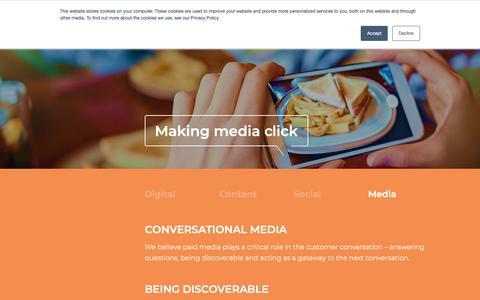 Screenshot of Press Page thecroc.com - Media - The Crocodile: Award winning B2B marketing agency - captured Oct. 19, 2018