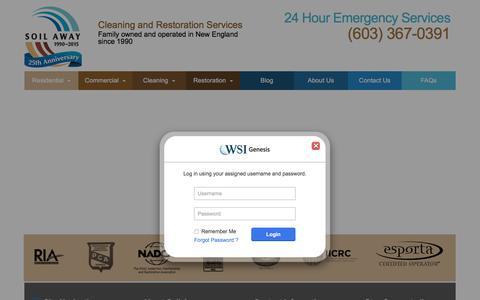 Screenshot of Login Page soilaway.com - Soil Away LLC - captured Dec. 3, 2016