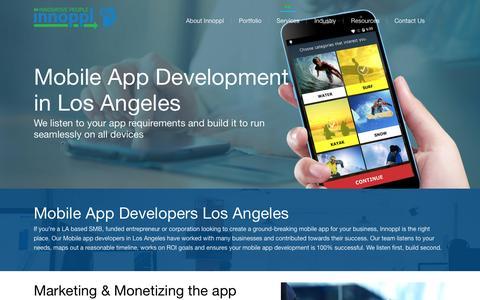 Screenshot of Services Page innopplinc.com - App Developers Los Angeles | Mobile App Development LA - captured Nov. 20, 2016