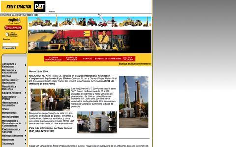 Screenshot of Landing Page kellytractor.com - Kelly Tractor Co. paticipó en el ADSC International Foundation Congress and Equipment Expo 2009 en Orlando, FL - captured Aug. 12, 2016