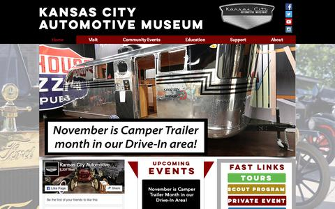 Screenshot of Home Page kansascityautomuseum.com - KC Auto Museum - captured Nov. 15, 2018