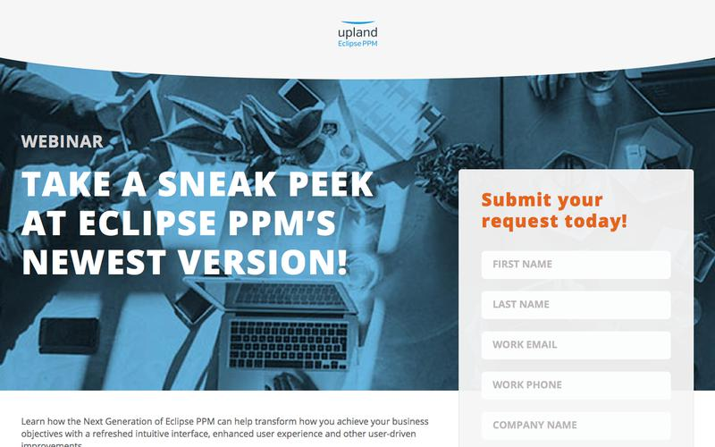 Take a Sneak Peek at Eclipse PPM's Newest Version!