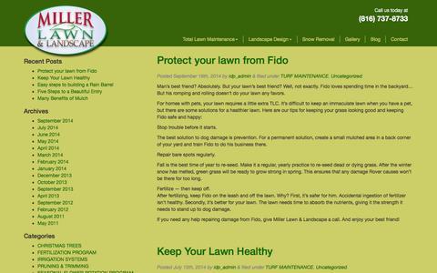 Screenshot of Blog millerlawn.com - Lawn Care Blog | Miller Lawn of Kansas City - captured Feb. 13, 2016