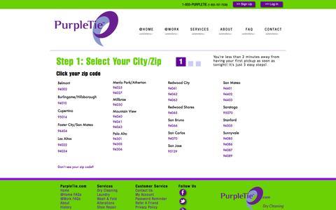 Screenshot of Signup Page purpletie.com - Purpletie | Signup - captured Sept. 30, 2014