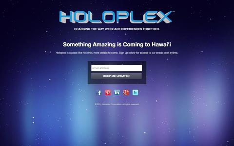 Screenshot of Home Page holoplex.com - Holoplex - captured Sept. 30, 2014
