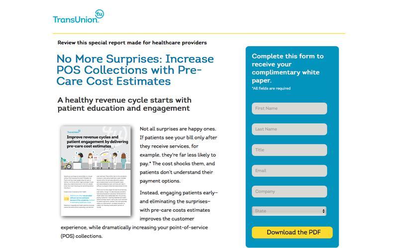 No More Surprises: Increase POS Collections with Pre-Care Cost Estimates | TransUnion