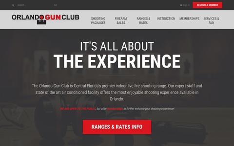 Screenshot of Home Page orlandogunclub.com - Orlando Gun Club | Central Florida's premier firing range - captured Oct. 20, 2018