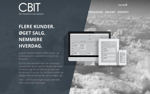 Screenshot of Home Page cbit.dk - CBIT | Your business is our passion - captured June 17, 2015