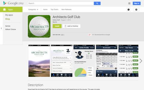 Screenshot of Android App Page google.com - Architects Golf Club - Android Apps on Google Play - captured Oct. 27, 2014