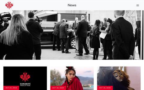 Screenshot of Press Page canadaswalkoffame.com - Canada's Walk of Fame - captured Nov. 4, 2018