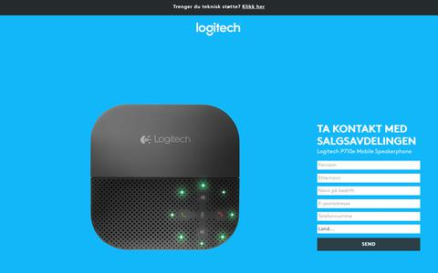 Screenshot of Landing Page logitech.com - Logitech P710e Mobile Speakerphone | Contact Us - captured Sept. 30, 2017