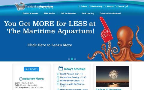 Screenshot of Home Page maritimeaquarium.org - The Maritime Aquarium - captured June 24, 2017