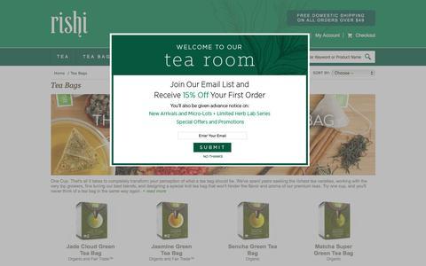 Organic Tea Bags | RishiTea.com