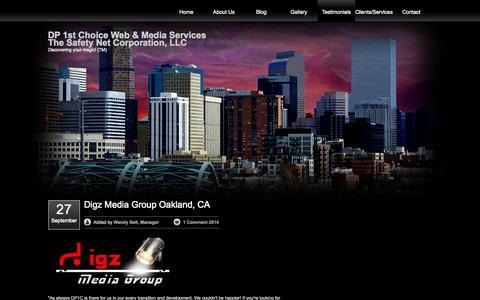 Screenshot of Testimonials Page dp1c.com - Droolboy Productions, DP1C Testimonials - captured Oct. 27, 2014