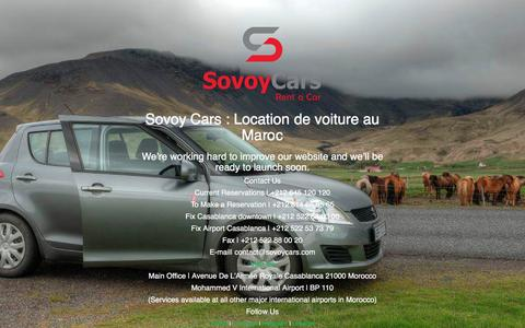 Screenshot of Home Page sovoycars.com - Sovoy Cars : Location de voiture au Maroc - captured Feb. 25, 2016