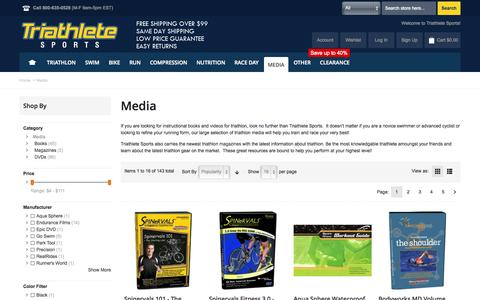 Screenshot of Press Page triathletesports.com - Triathlon Books - Triathlon Instructional Videos - Triathlon Media at Triathletesports.com - captured Sept. 19, 2014