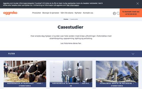 Screenshot of Case Studies Page aggreko.com - Casestudier | Aggreko - captured Oct. 3, 2018