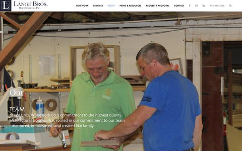 Screenshot of Team Page langebros.com - Meet Our Team | Lange Bros. Woodworking - captured Dec. 14, 2018
