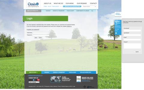 Screenshot of Login Page oasisngv.com - Login | Oasis NGV - captured Oct. 27, 2014