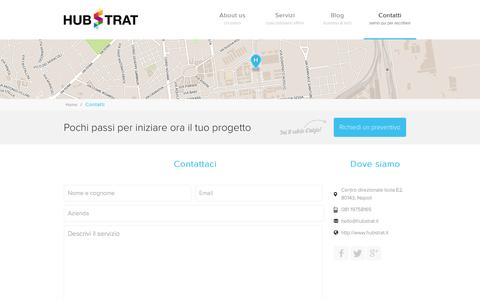 Screenshot of Contact Page hubstrat.it - Contatti - Hubstrat - evolving design - captured Sept. 30, 2014