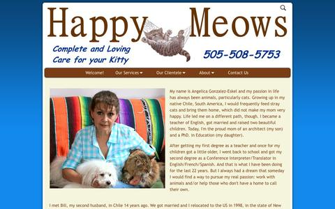 Screenshot of About Page happymeows.com - About Us – Happy Meows - captured May 11, 2017