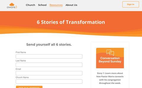 Screenshot of Case Studies Page aware3.com - Case Studies - captured Feb. 19, 2019