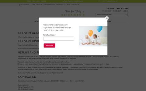 Screenshot of Support Page beibamboo.com - Customer Service - captured Nov. 1, 2017