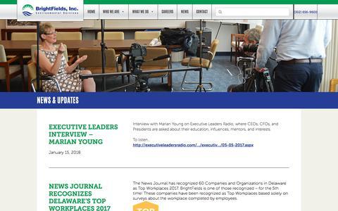 Screenshot of Press Page brightfieldsinc.com - News & Updates   BrightFields, Inc. - captured April 23, 2018