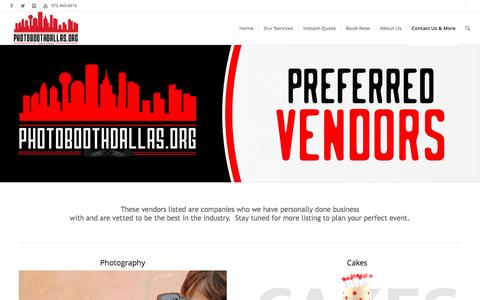 Preferred Vendors | Photo Booth Rental Dallas - Wedding, Corporate & Party Rentals