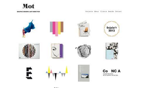 Screenshot of Home Page motstudio.com - Mot's Portfolio - captured Oct. 7, 2014