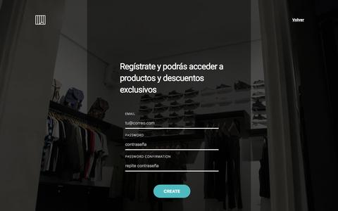 Screenshot of Signup Page nigramercato.com - Sneakers & Streetwear. Envío de zapatillas - Compra online en nigramercato.com - captured Nov. 15, 2017