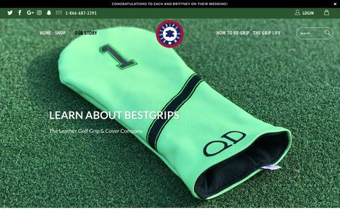 Screenshot of About Page bestgrips.com - Learn About That Small Texas Golf Grip Company, BestGrips.com - captured Sept. 27, 2018