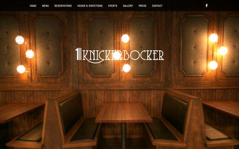 Screenshot of Home Page 1-knickerbocker.com - 1 Knickerbocker Restaurant in Brooklyn - captured Jan. 28, 2015