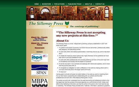 Screenshot of About Page Privacy Page sillowaypress.com - About Silloway Press: Independent Publisher, Self Publishing - captured Oct. 26, 2014