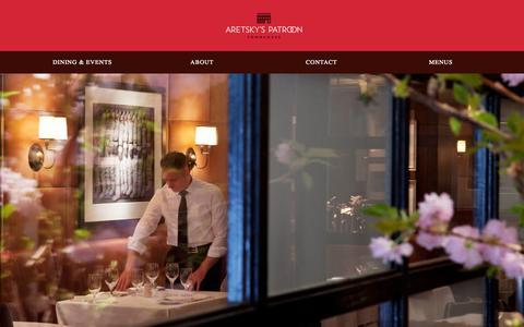 Screenshot of Home Page aretskyspatroon.com - Aretsky's Patroon - captured Oct. 4, 2014