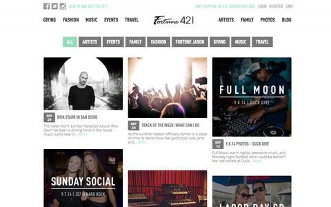 Screenshot of Blog fortune421.com - Blog - Fortune 421 - captured Oct. 1, 2014