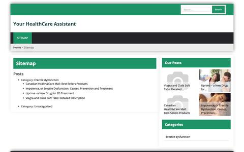Screenshot of Site Map Page auntielitter.org - Sitemap   Your HealthCare Assistant - captured Oct. 4, 2018