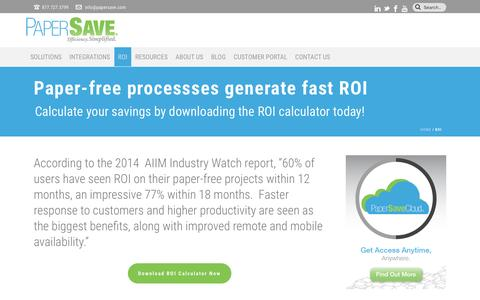 Return on Investment (ROI) Calculator for Going Paperless | PaperSave
