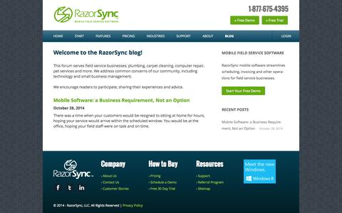 Field Service Management Blog by RazorSync Mobile App