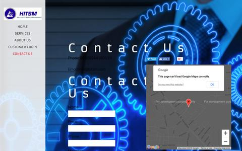 Screenshot of Contact Page hitsm.com - HITSM - captured Sept. 28, 2018