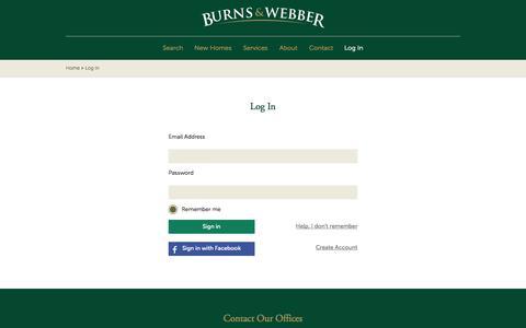 Screenshot of Login Page burnsandwebber.com - Log In   Burns & Webber - captured Oct. 5, 2014