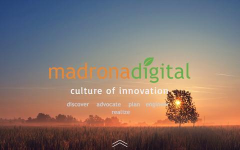 Screenshot of Home Page madronadigital.com - Madrona Digital - captured May 27, 2017