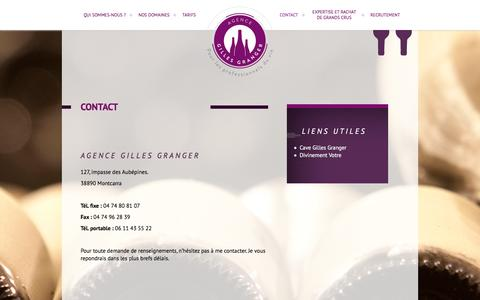 Screenshot of Contact Page agence-gilles-granger.fr - Agence Gilles Granger � Contact - captured Dec. 24, 2015