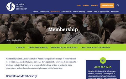 Screenshot of Signup Page theasa.net - Membership | ASA - captured June 29, 2017