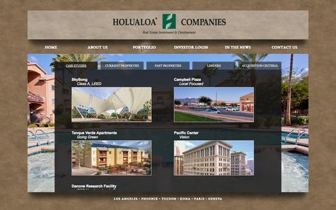 Screenshot of Case Studies Page holualoa.com - Case Studies | Holualoa - captured Oct. 3, 2014