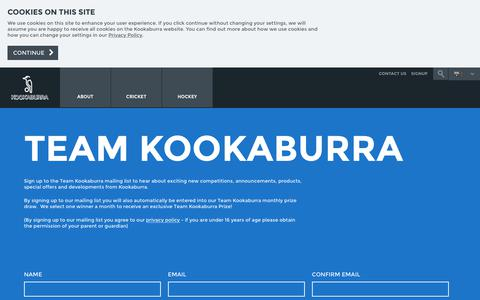 Screenshot of Signup Page kookaburra.biz - Official Kookaburra Sign Up Australia - captured Nov. 15, 2018