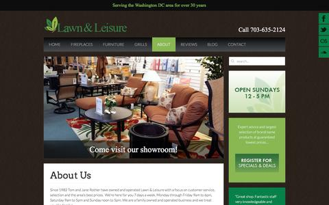 Screenshot of About Page lawn-and-leisure.com - Lawn & Leisure - About - captured April 13, 2017