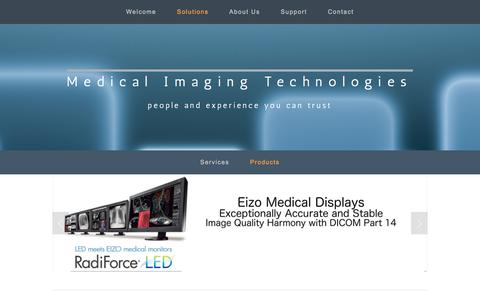 Screenshot of Products Page medicalimagingtech.com - Products — Medical Imaging Technologies - captured Sept. 25, 2018